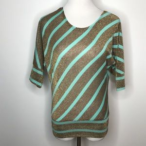 A Byer Top Size Small Open Tie Back Striped